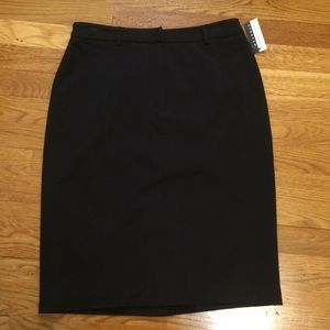 Casual Corner straight black skirt